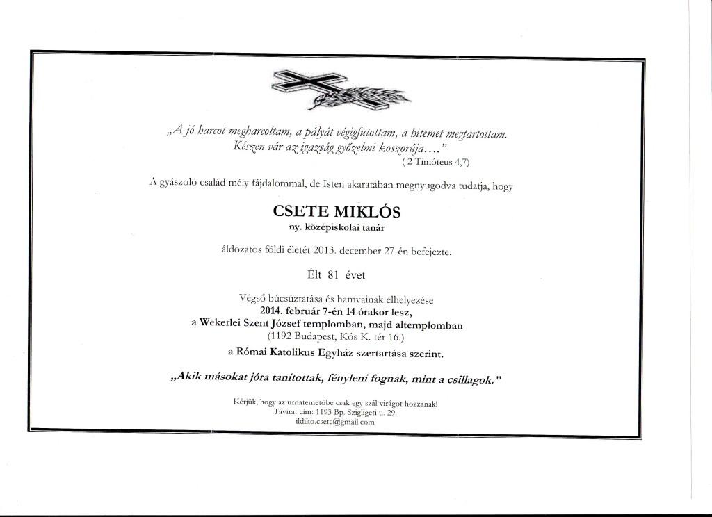 Csete Miklós